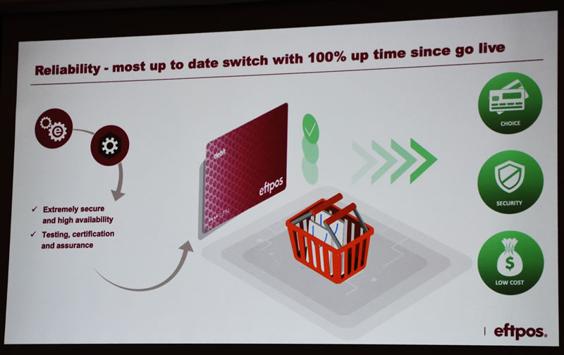 EFTPOS slide 2 Reliability 100% up time