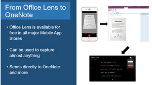 OneNote Slide 2 using Office Lens
